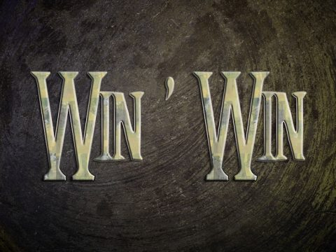 31198999 - win win concept text on background